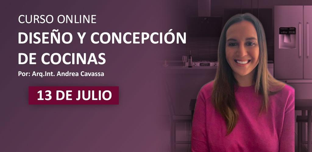 Curso especializado de Diseño y Concepción de Cocinas por la Arq. Andrea Cavassa
