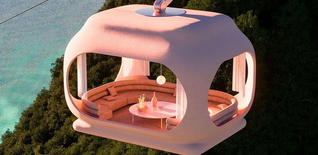 Arquitectura surrealista en la naturaleza