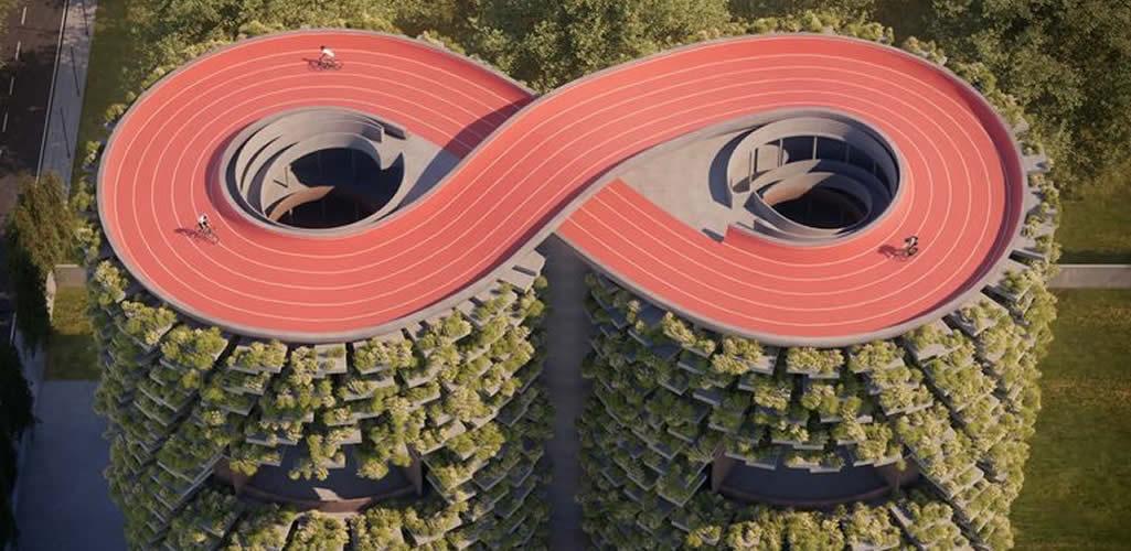 Este colegio de India tendrá una pista de ciclismo en su azotea