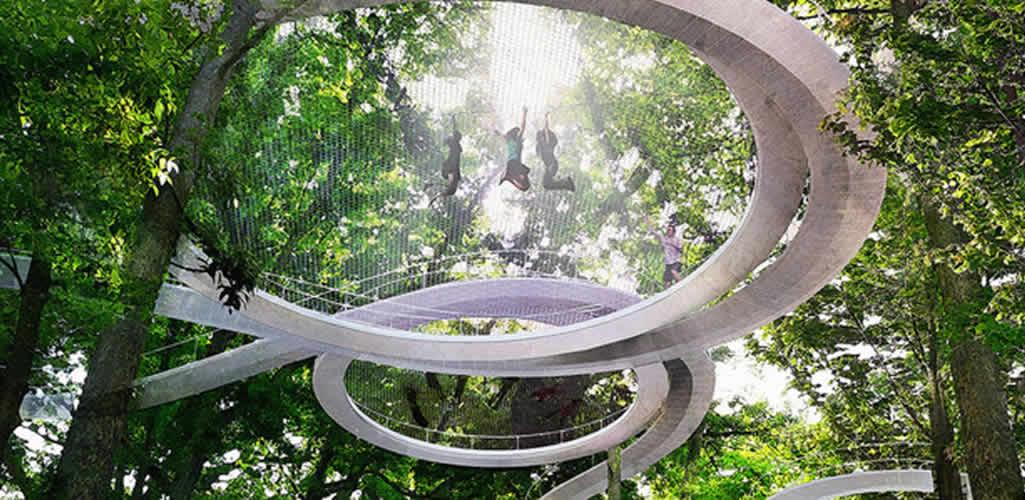 Los parques del futuro te permitirán caminar entre las copas de los árboles