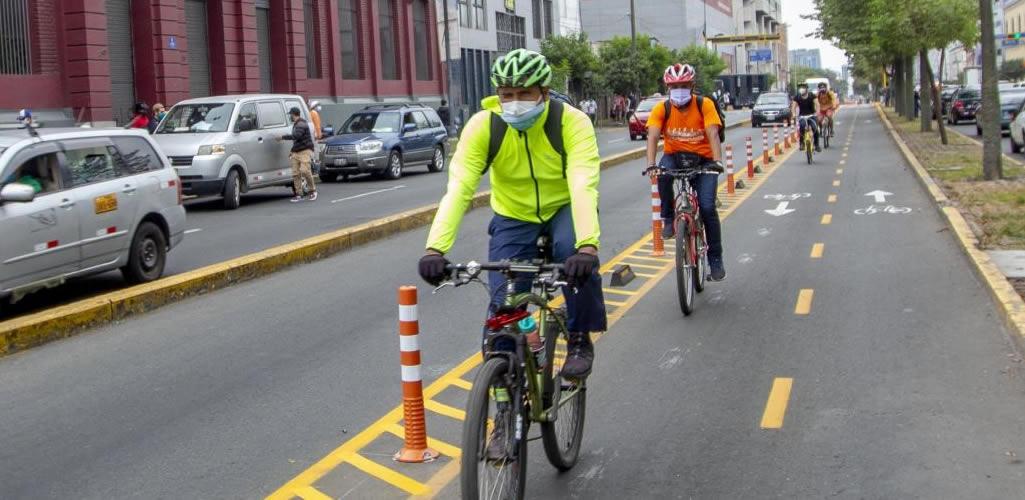 Implementan ciclovías en las avenidas La Marina y Pershing