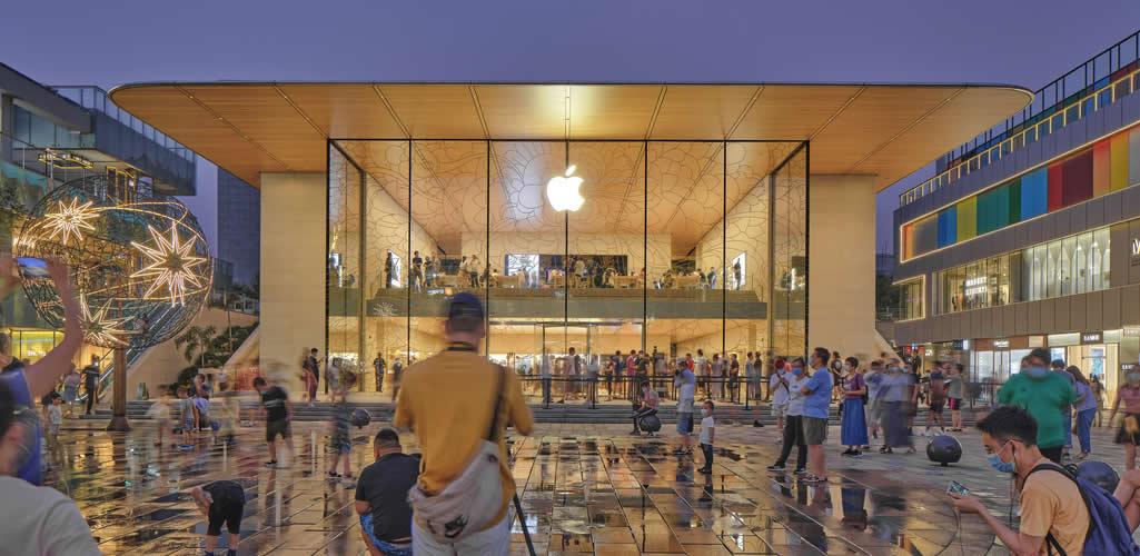Se inaugura el nuevo Apple Store de Foster + Partners en Sanlitun, China