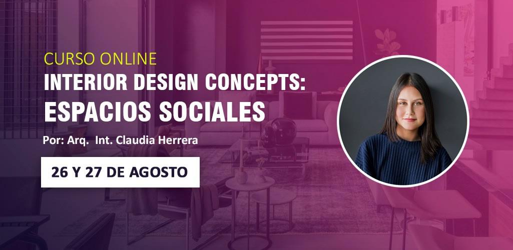 Dossier presenta curso online, Interior design concepts: Espacios Sociales