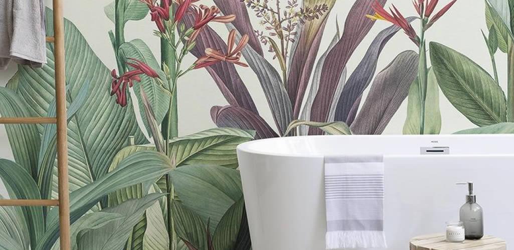Papel pintado para el cuarto de baño