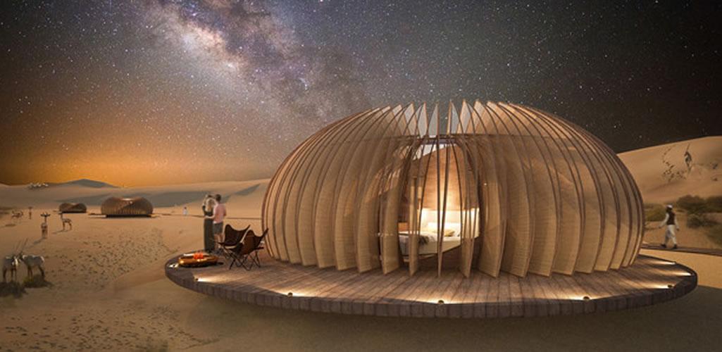 Oculus, el hotel esférico ubicado en medio del desierto