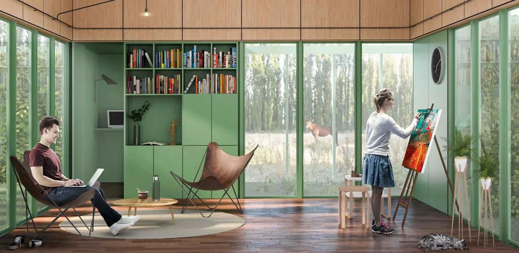 """La casa mínima ideal para una pareja en aislamiento: Los ganadores del concurso """"Un lugar para la cuarentena"""""""