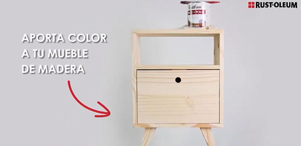 DIY Tinte+Poli Mesa de Luz