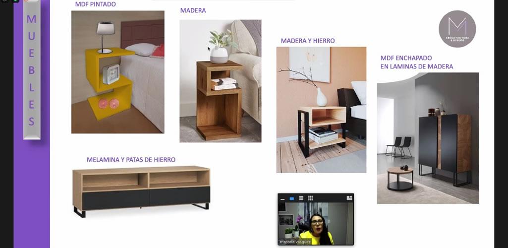 Con gran éxito culmino el taller virtual de Dossier: Diseño de muebles, conceptos y cómo cotizarlos