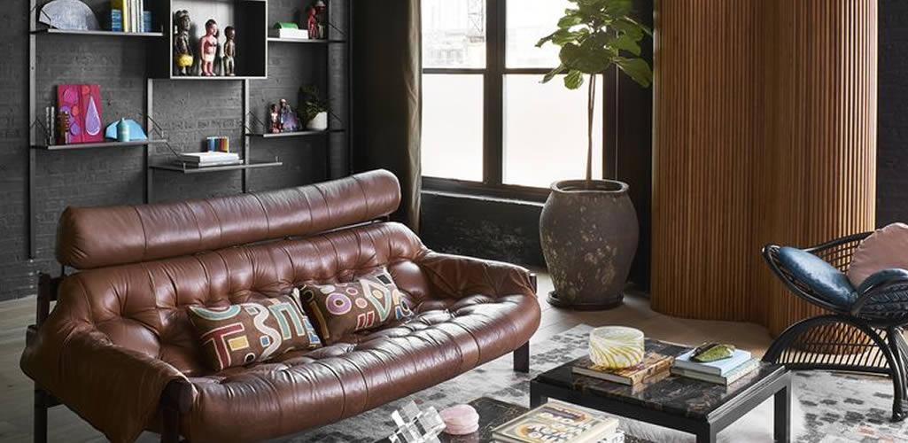 Inspiración: Salas con tonos negros