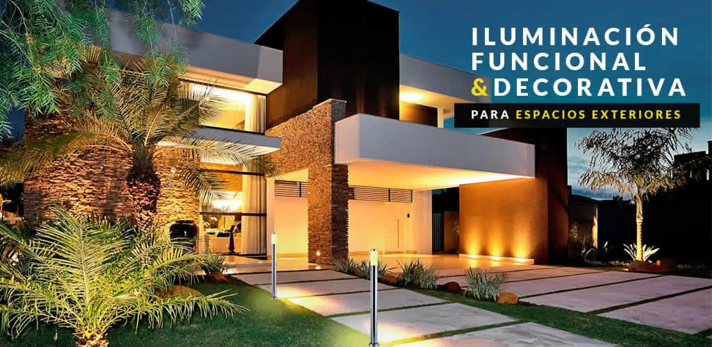 Espacios exteriores: iluminación funcional y decorativa