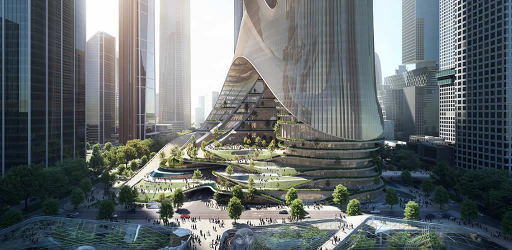 Zaha Hadid Architects gana concurso para construir la Torre C en la Bahía de Shenzhen, China