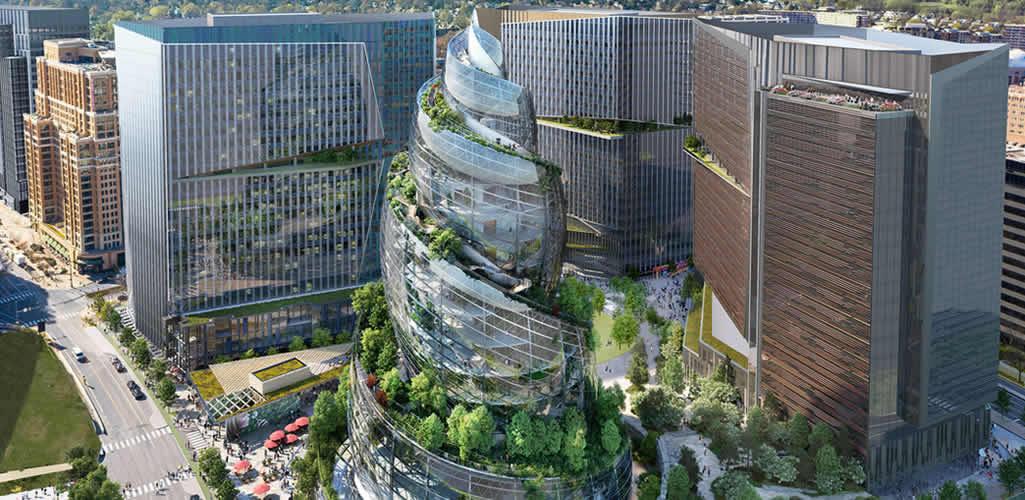 """El nuevo edificio de Amazon: """"Un entorno que prioriza el trabajo saludable y celebra la naturaleza"""""""