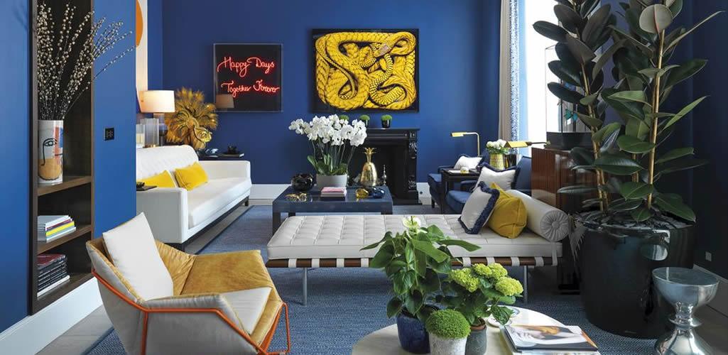 Inspiración: salones con el azul como protagonista
