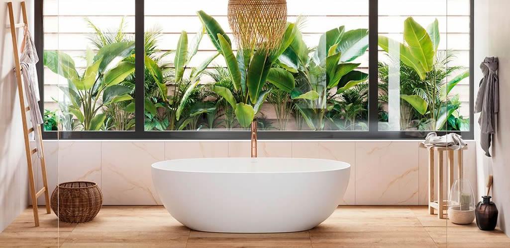 Ideas para elevar la decoración de tu baño con plantas