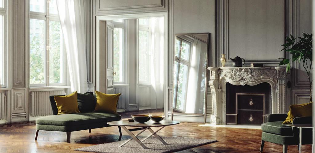 Conoce los espejos ideales para agrandar estancias pequeñas