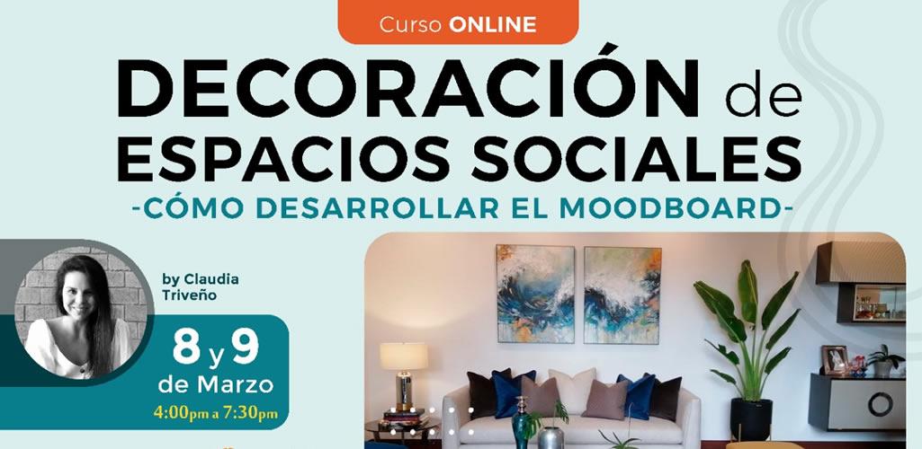 Dossier presenta curso online: Decoración de espacios sociales