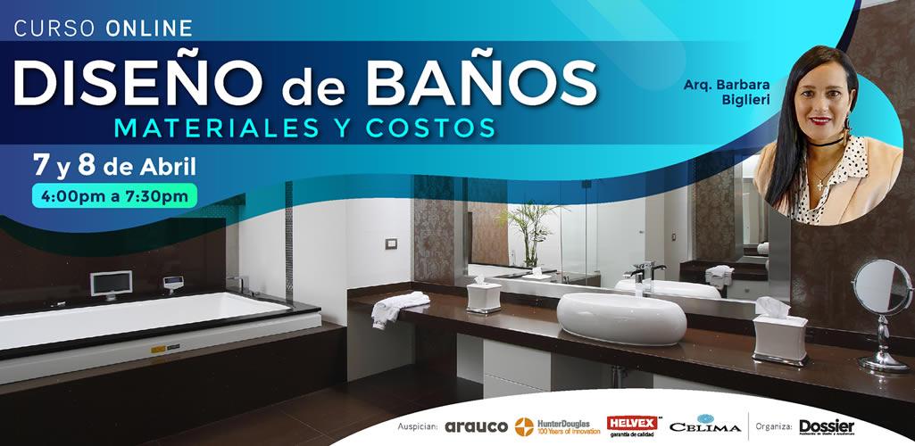 """Dossier presenta el curso online: """"Diseño de baños, materiales y costos"""""""