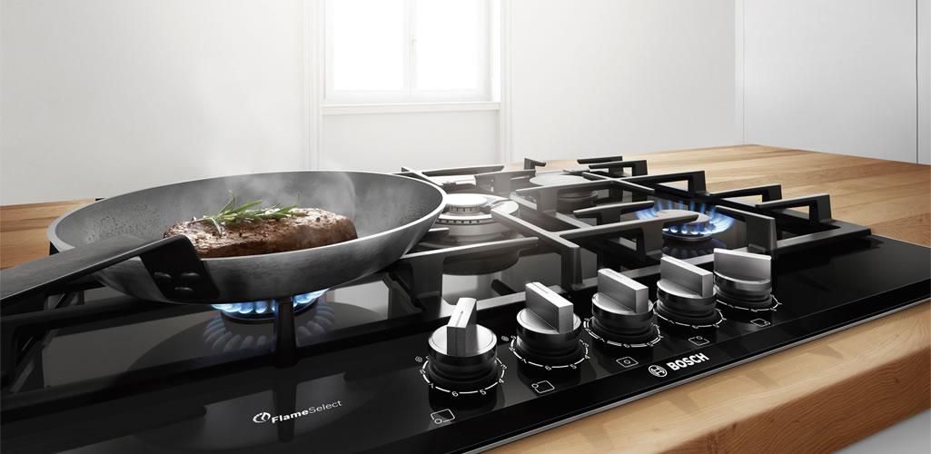 Encimeras Bosch FlameSelect: 9 niveles precisos de llama para resultados perfectos
