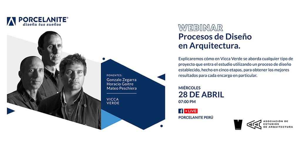 """""""Procesos de Diseño en Arquitectura"""" es la Charla Gratuita que ofrecerá Porcelanite con reconocidos arquitectos"""