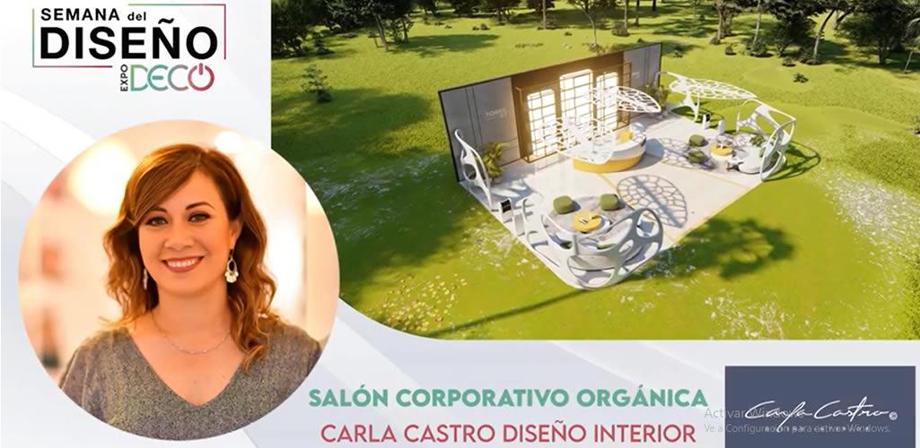"""Carla Castro presentará el """"Salón corporativo orgánica """" en #LaSemanaDelDiseño"""