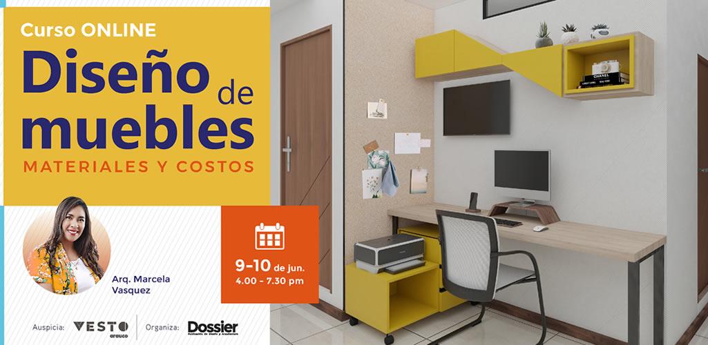 """Dossier presenta curso: """"Diseño de muebles, materiales y costos"""""""