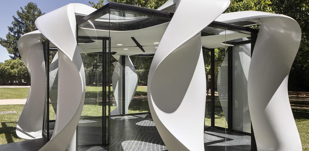 El pabellón ecológico de Zaha Hadid Architects