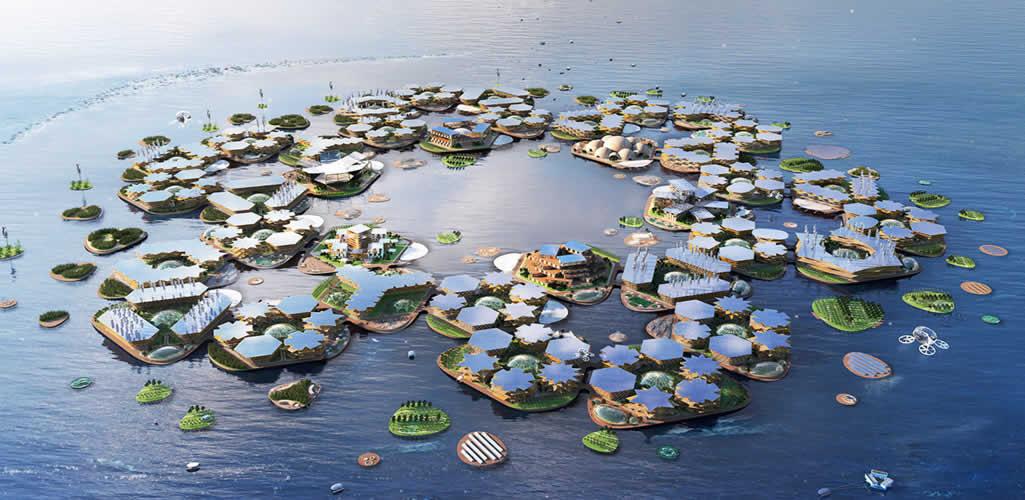 Oceanix City, la primera ciudad flotante y autosostenible del mundo