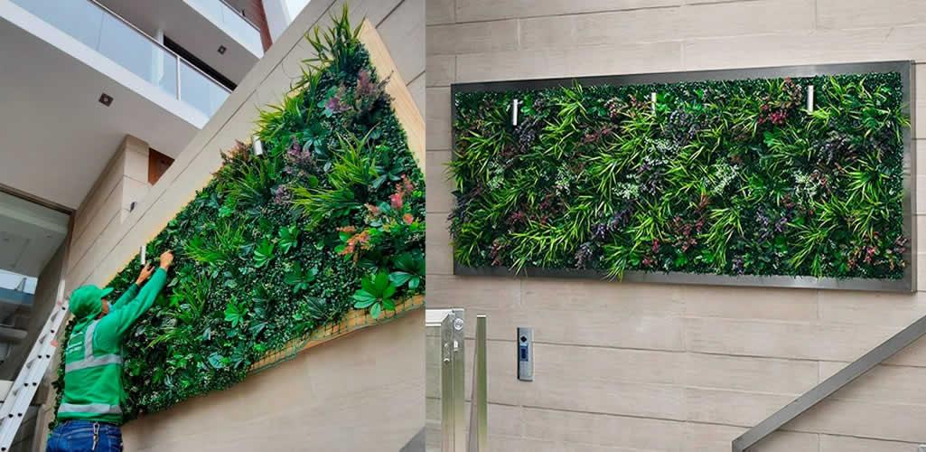 Reverdece: Jardines verticales artificiales