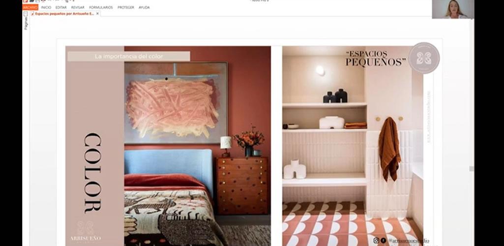 """Dossier presentó curso online: """"Diseño de espacios pequeños, espacios multifuncionales, muebles y materiales"""""""