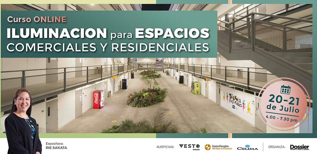 """Dossier presenta el curso online: """"Iluminación para Espacios Comerciales y Residenciales"""""""