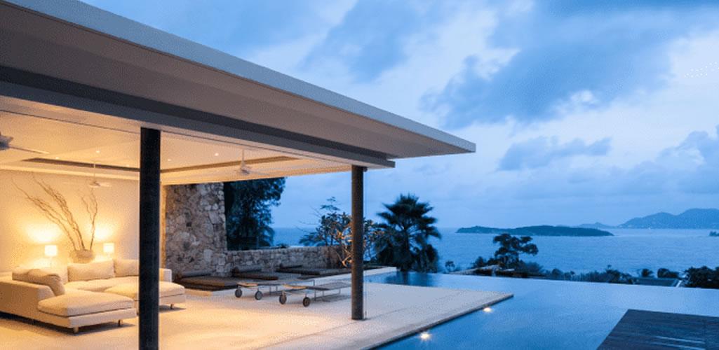 Diseño de fachadas de casas de playa