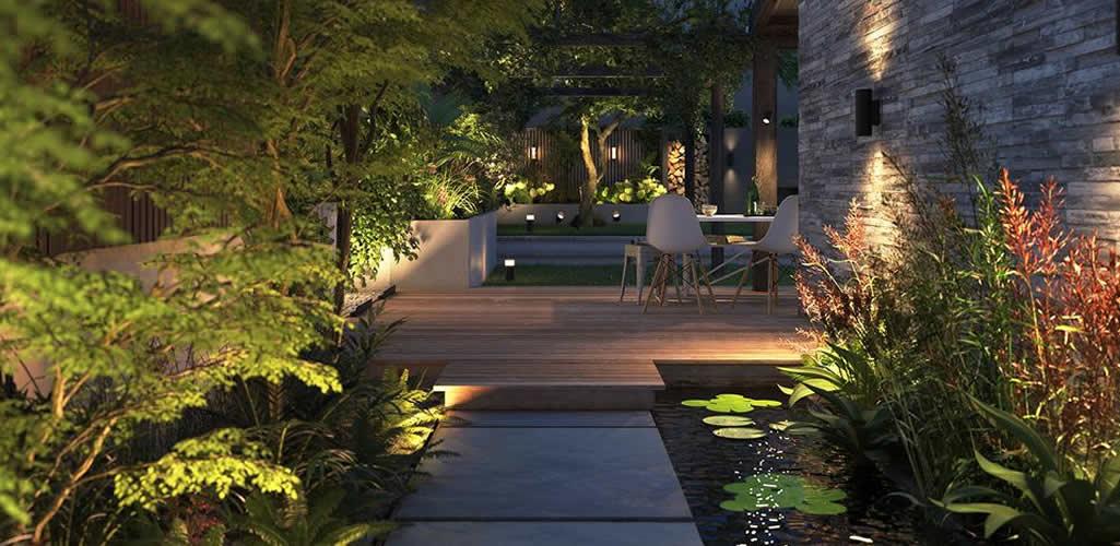 Cómo puedes utilizar la iluminación exterior para crear ambiente