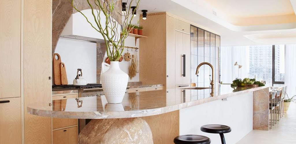 Una casa con decoración saludable