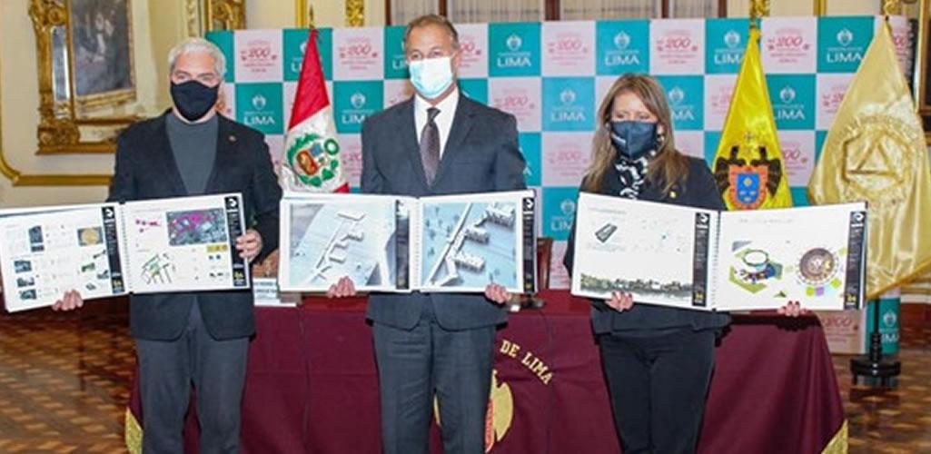 CAP Lima entrega a la Municipalidad de Lima proyectos arquitectónicos y urbanísticos