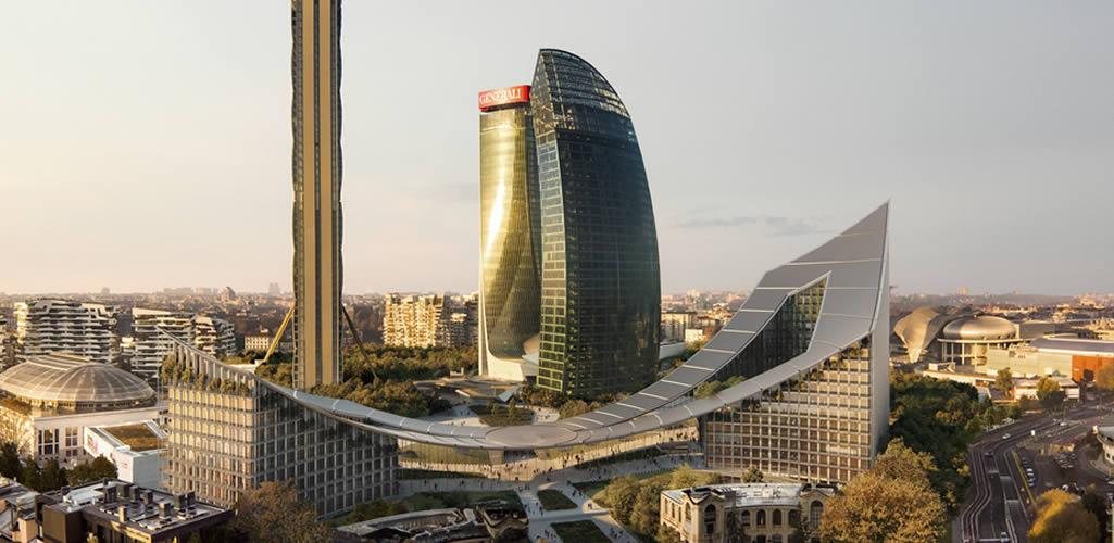 BIG comienza la construcción del proyecto de regeneración urbana CityWave en Milán