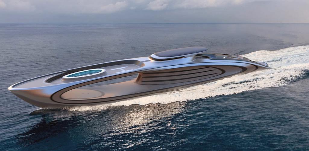 Los superyates del futuro incluirán este impactante diseño